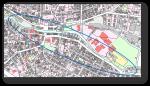 Das Bild zeigt einen markierten Bereich eines Stadtplans.