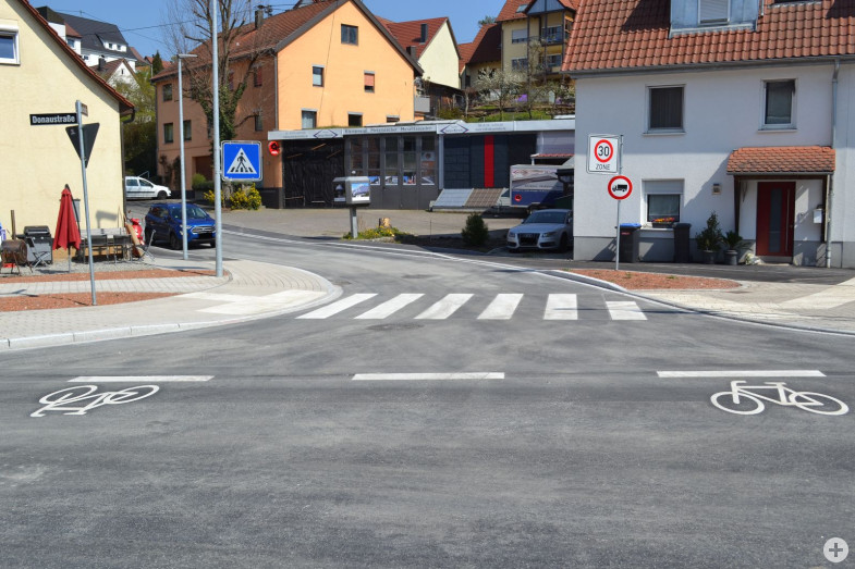 Ortsmitte Altenburg im April 2020 nach Abschluss der Baumaßnahmen