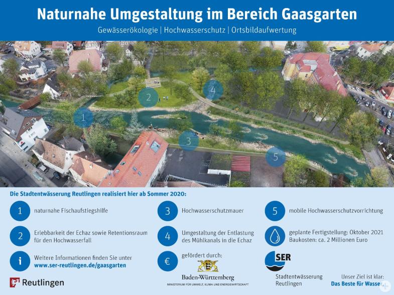 Baustelleninformationsschild Gaasgarten Betzingen