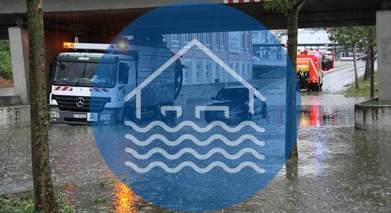 Hochwasser in Reutlingen