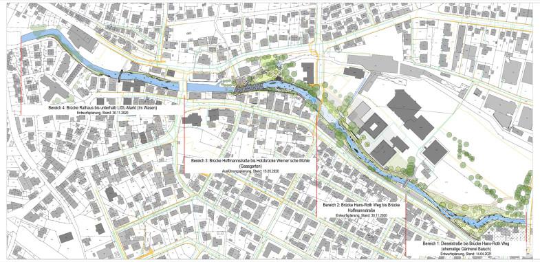 Übersichtskarte vom Entwicklungskonzept Betzingen